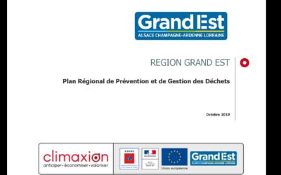 Le PRPGD Grand Est a été adopté le 18 octobre 2019